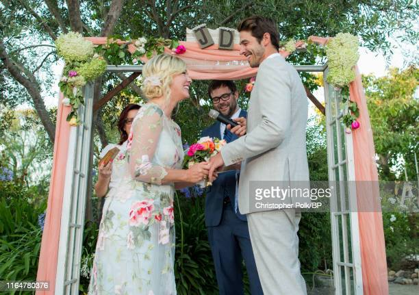 Jennie Garth and Dave Abrams' wedding at a private residence July 11 2015 in Santa Ynez California