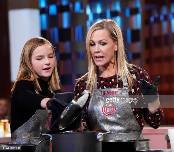 Jennie Garth and her Daughter Fiona in the MASTERCHEF CELEBRITY FAMILY SHOWDOWN airing in a twonight special Wednesday May 15 and Wednesday May 22 on...