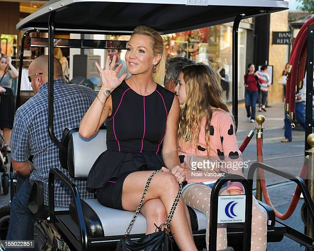 Jennie Garth and her daughter Lola Ray Facinelli are sighted at The Grove on October 30 2012 in Los Angeles California