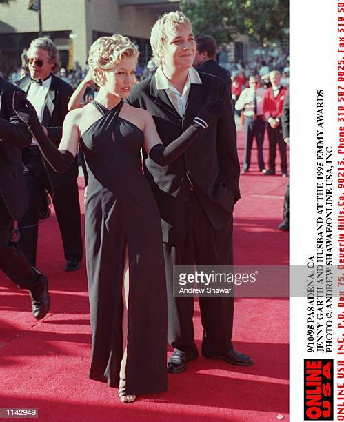 Jennie GARTH AND HUSBAND Dan Clark AT