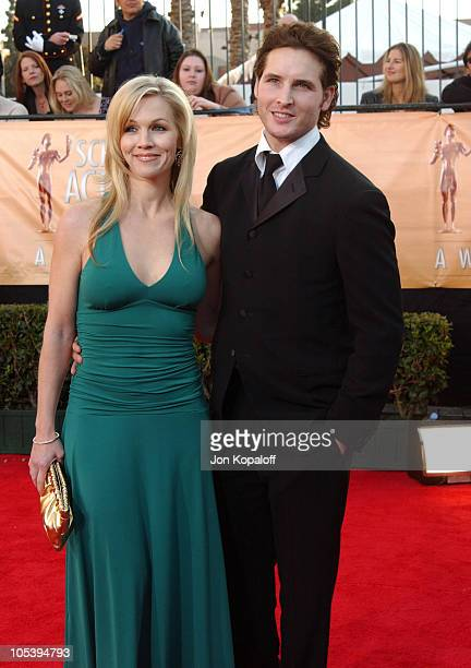 Jennie Garth and husband Peter Facinelli during 2005 Screen Actors Guild Awards Arrivals at The Shrine in Los Angeles California United States