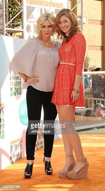 Jennie Garth and Luca Bella Facinelli attend the 2012 Nickelodeon Kids' Choice Awards at Galen Center on March 31 2012 in Los Angeles California
