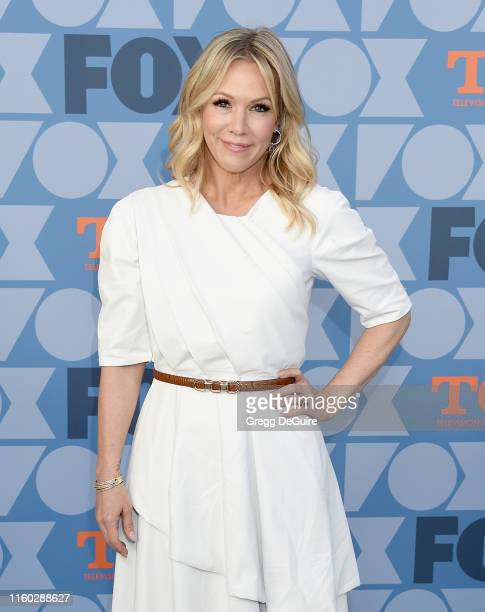 Jennie Garth arrives at the FOX Summer TCA 2019 AllStar Party at Fox Studios on August 7 2019 in Los Angeles California