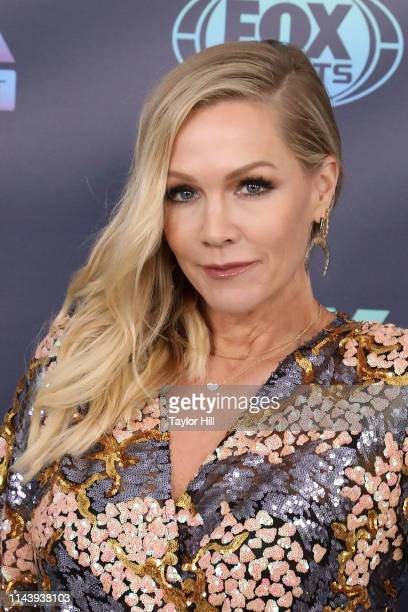 Jennie Garth attends the 2019 Fox Upfront at Wollman Rink Central Park on May 13 2019 in New York City