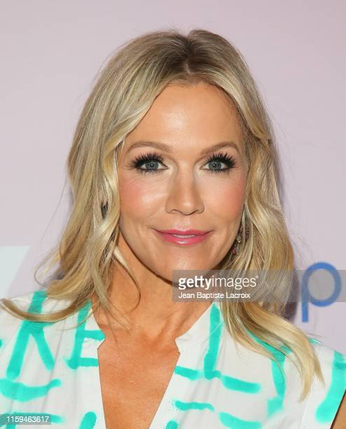 Jennie Garth attends the Beverly Hills 90210 Peach Pit PopUp on May 20 2019 in Los Angeles California