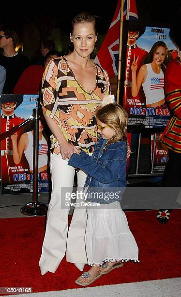 Jennie Garth Daughter Luca Bella during 'What A Girl Wants' Premiere Arrivals at Cinerama Dome in Hollywood California United States