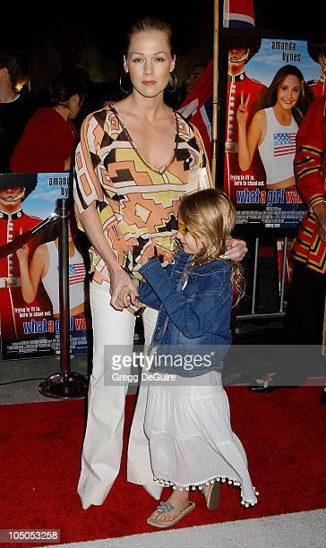 Jennie Garth Daughter Luca Bella during What A Girl Wants Premiere Arrivals at Cinerama Dome in Hollywood California United States
