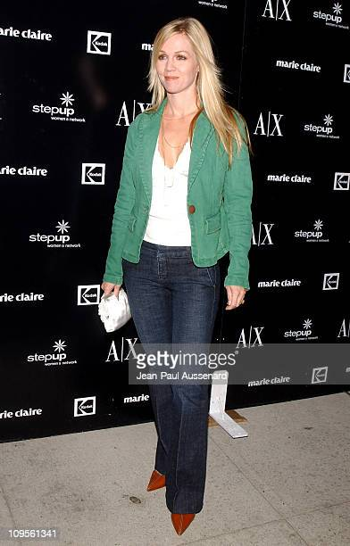 Jennie Garth during A/X Armani Exchange Marie Claire Magazine and Kodak Supporting The Step Up Women's Network Arrivals at A/X Armani Exchange...