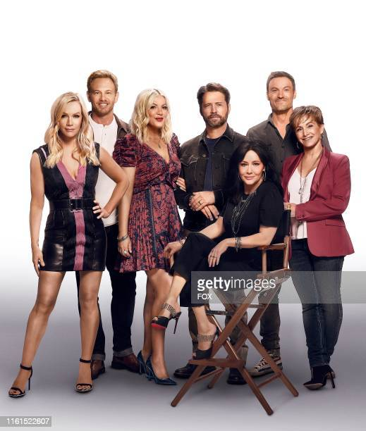 Jennie Garth Ian Ziering Tori Spelling Jason Priestley Shannen Doherty Brian Austin Green and Gabrielle Carteris BH90210 the highly anticipated new...