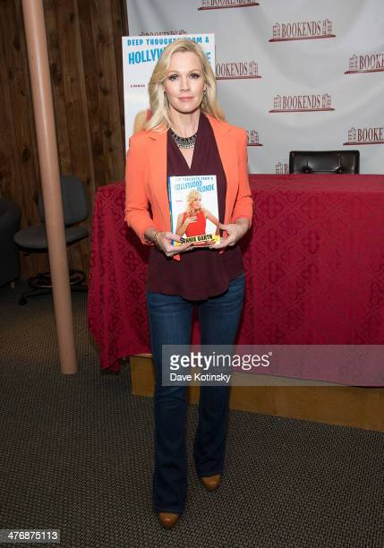 """Jennie Garth signs copies of her book """"Deep Thoughts From a Hollywood Blonde"""" at Bookends Bookstore on March 5, 2014 in Ridgewood, New Jersey."""