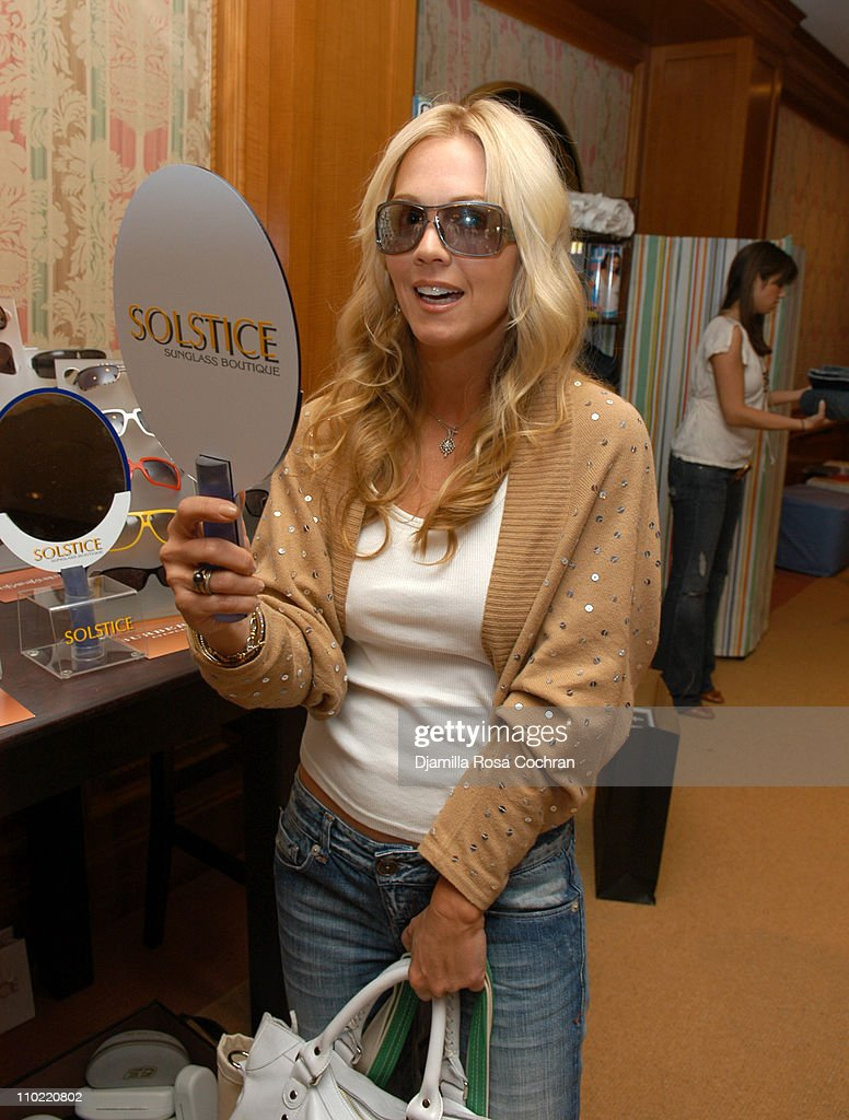 Jennie Garth wearing Gucci 2565S Sunglasses during Solstice Sunglass Boutique at the Lucky/Cargo Club - Day 2 at Ritz Carlton in New York City, New York, United States.