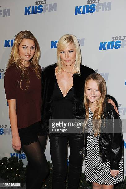 Jennie Garth with children Luca Bella Facinelli and Lola Ray Facinelli arrives at the 2012 KIIS FM Jingle Ball at Nokia Theatre LA Live on December 1...