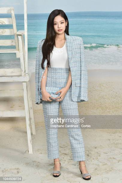 Jennie Kim attends the Chanel show as part of the Paris Fashion Week Womenswear Spring/Summer 2019 on October 2 2018 in Paris France
