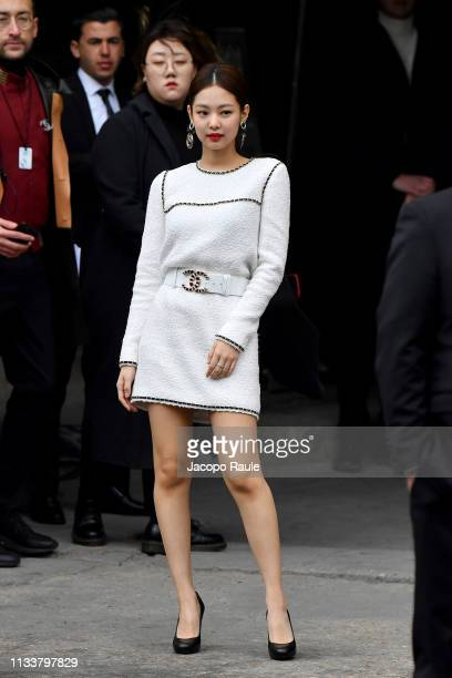 Jennie Kim attends the Chanel show as part of the Paris Fashion Week Womenswear Fall/Winter 2019/2020 on March 05 2019 in Paris France