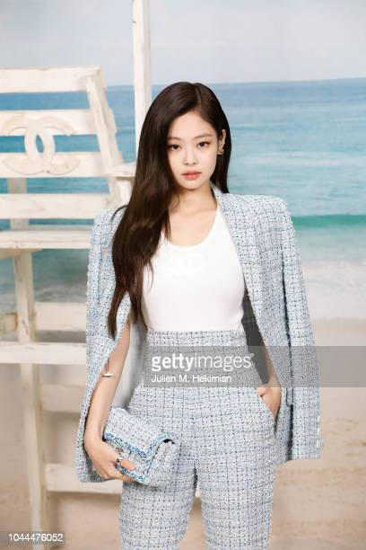 Jennie Kim attends the Chanel show at Le Grand Palais as part of Paris Fashion Week Womenswear on October 2 2018 in Paris France