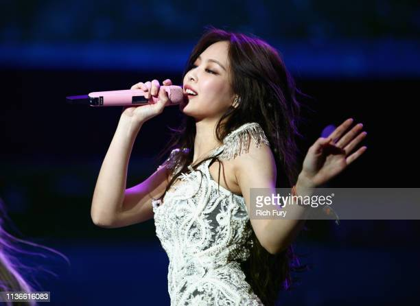 Jennie Kim of BLACKPINK performs at Sahara Tent during the 2019 Coachella Valley Music And Arts Festival on April 12 2019 in Indio California