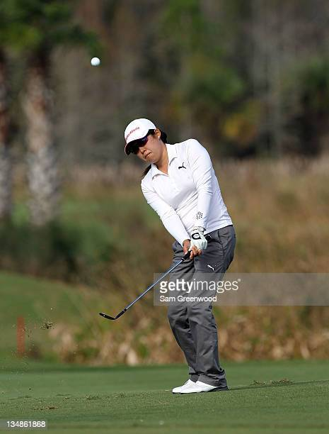 Jennie Lee plays a shot during the final round of the LPGA Qualifying School at LPGA International on December 4 2011 in Daytona Beach Florida