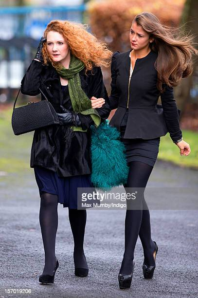 Jennie McAlpine and Brooke Vincent attend the funeral of Coronation Street actor Bill Tarmey at the Albion United Reformed Church on November 27 2012...