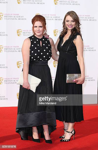 Jennie McAlpine and Kate Ford arrive for the House Of Fraser British Academy Television Awards 2016 at the Royal Festival Hall on May 8 2016 in...