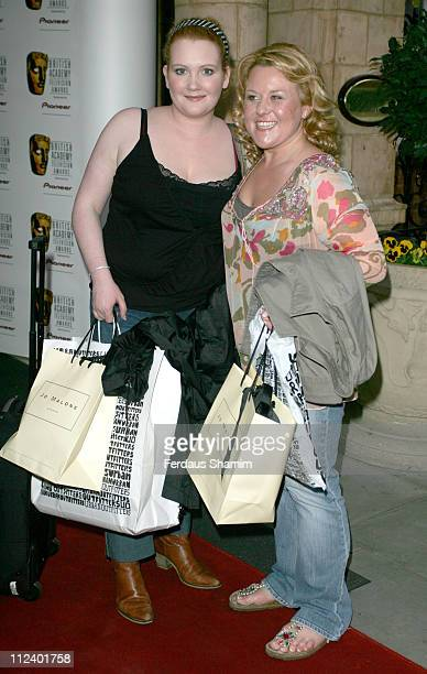 Jennie McAlpine and Wendy Peters during British Academy Television Awards Nominees Party April 20 2006 at The Landmark Hotel in London Great Britain