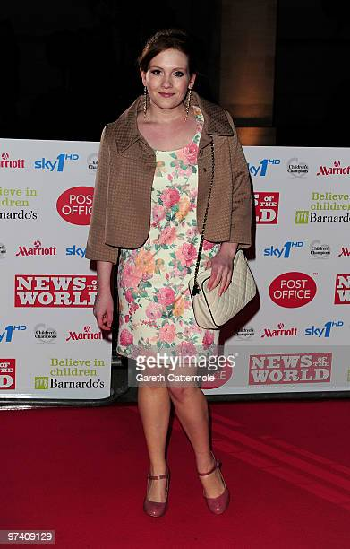 Jennie McAlpine arrives at the Children's Champions 2010 Awards at the Grosvenor House Hotel on March 3 2010 in London England