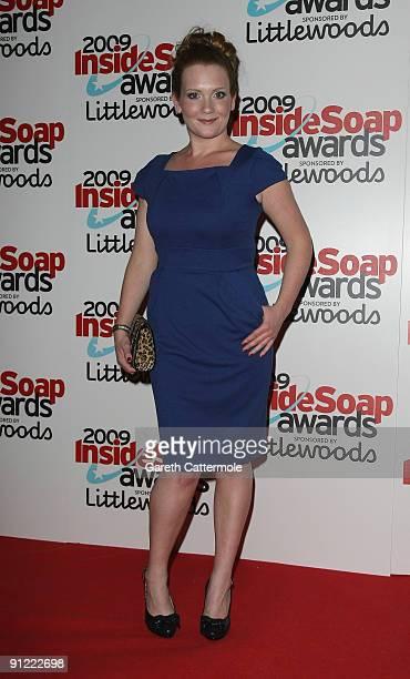 Jennie McAlpine arrives at The Inside Soap Awards 2009 on September 28 2009 in London England
