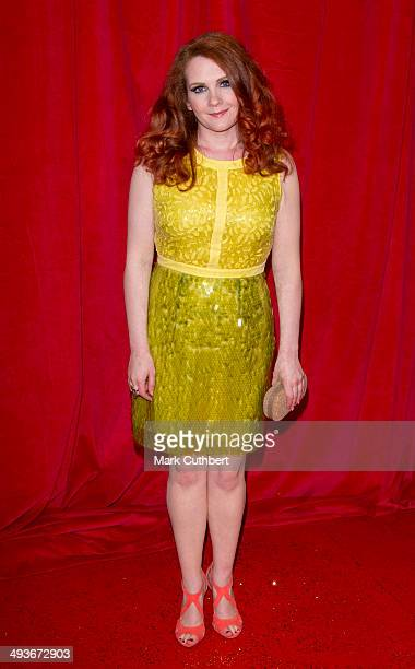 Jennie McAlpine attends the British Soap Awards at Hackney Empire on May 24 2014 in London England