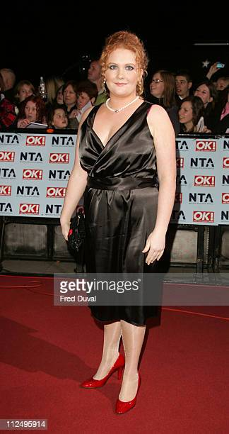 Jennie McAlpine during National Television Awards 2006 Red Carpet at Royal Albert Hall in London Great Britain