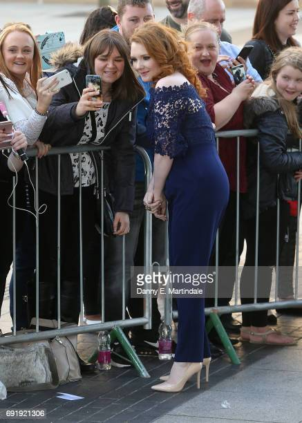 Jennie McAlpine seen arriving at the British Soap Awards on June 3 2017 in Manchester England