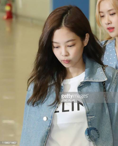 Jennie of BLACKPINK at Incheon International Airport on June 16 2019 in Incheon South Korea
