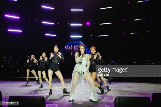 Jennie of BLACKPINK performs onstage during Weekend 1 Day 1 of the 2019 Coachella Valley Music and Arts Festival on April 12 2019 in Indio California
