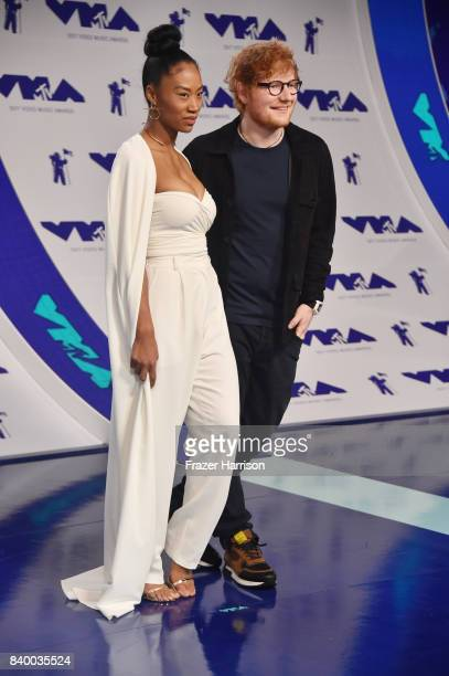 Jennie Pegouskie and Ed Sheeran attend the 2017 MTV Video Music Awards at The Forum on August 27 2017 in Inglewood California