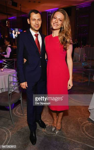 Jennie Rubenshteyn R and guest attends the Lincoln Center Alternative Investment Industry Gala on April 16 2018 at The Rainbow Room in New York City