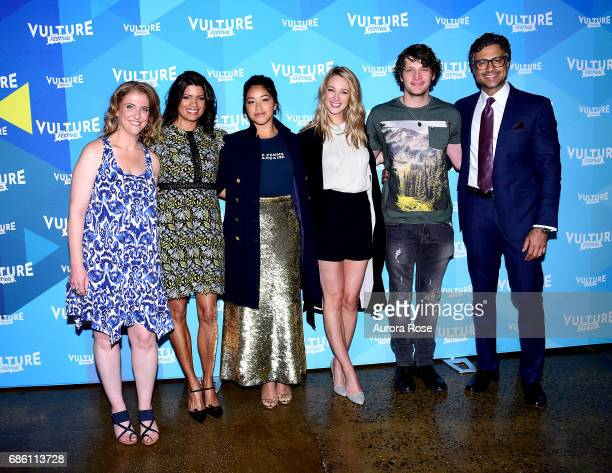 Jennie Snyder Urman Andrea Navedo Gina Rodriguez Yael Grobglas and Jaime Camil attend the 'Jane The Virgin' Screening during the Vulture Festival at...