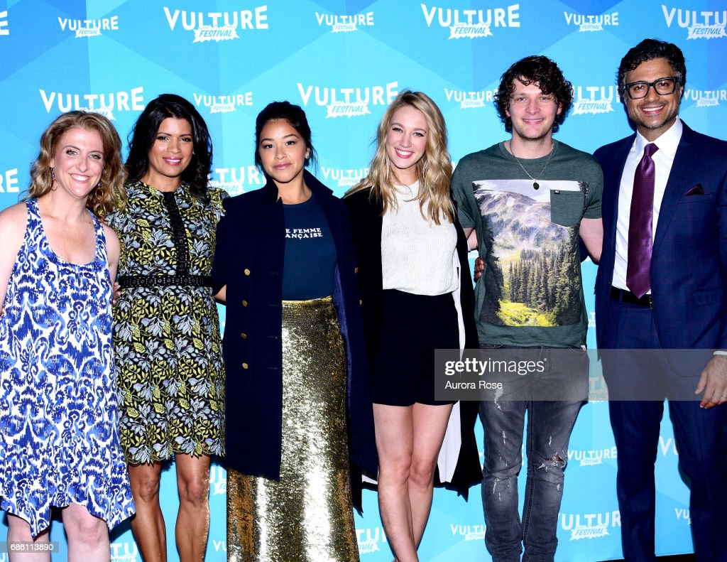 Jennie Snyder Urman, Andrea Navedo, Gina Rodriguez, Yael Grobglas and Jaime Camil attend the 'Jane The Virgin' Screening during the Vulture Festival at Milk Studios on May 20, 2017 in New York City.