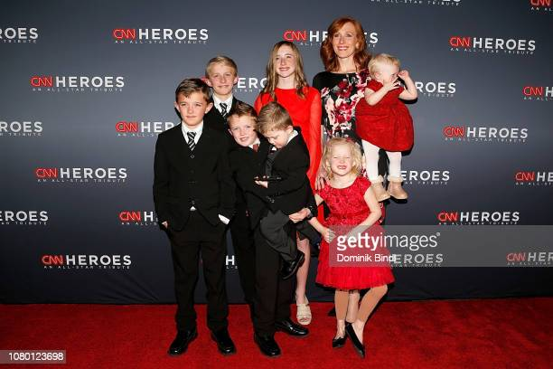 Jennie Taylor and her children Lincoln Taylor Alexander Taylor Jacob Taylor Jonathan Taylor Eleanor Taylor Caroline Taylor and Megan Taylor attend...