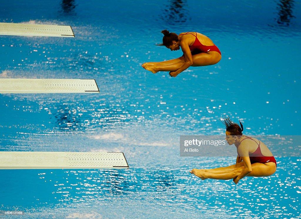 Toronto 2015 Pan Am Games - Day 3 Women' Synchronised 3m Springboard Fina : News Photo