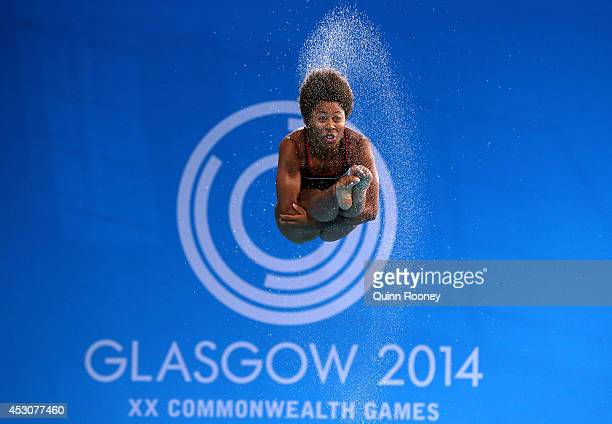 Jennifer Abel of Canada competes in the Women's 3m Springboard at Royal Commonwealth Pool during day ten of the Glasgow 2014 Commonwealth Games on...