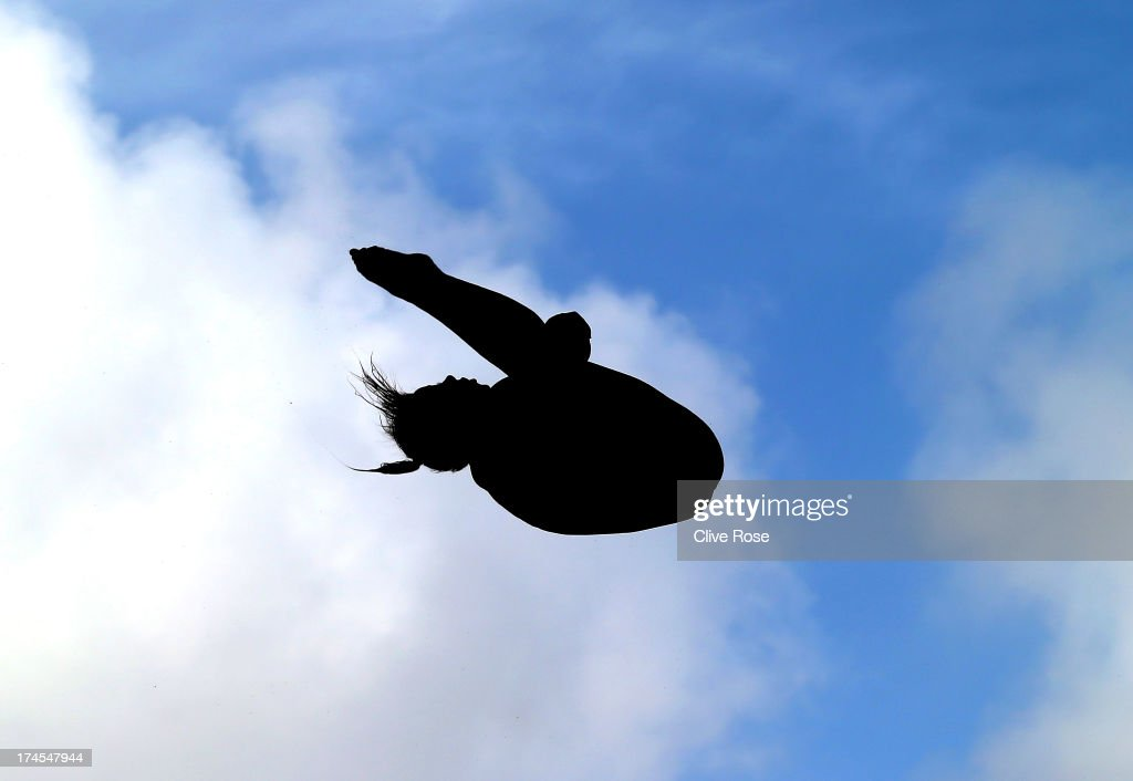 Jennifer Abel of Canada competes in the Women's 3m Springboard Diving Semifinal round on day eight of the 15th FINA World Championships at Piscina Municipal de Montjuic on July 27, 2013 in Barcelona, Spain.