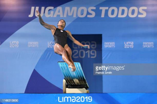 Jennifer Abel of Canada competes in Women's Diving 3m Springboard Final on Day 10 of Lima 2019 Pan American Games on August 05 2019 in Lima Peru