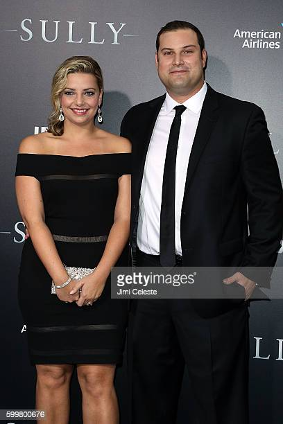 """Jennifer Adler and Actor Max Adler attends The New York Premiere of Warner Bros. Pictures' and Village Roadshow Pictures' """"Sully"""" at Alice Tully Hall..."""