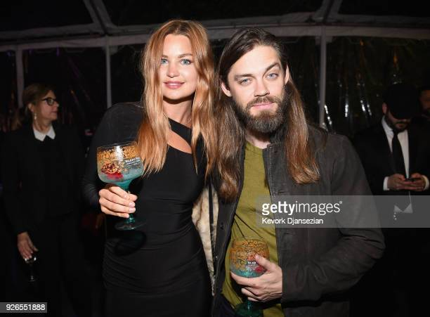 Jennifer Akerman and Tom Payne attend the Great British Film Reception honoring the British nominees of The 90th Annual Academy Awards on March 2...