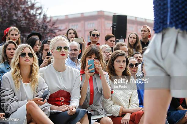 Jennifer Akerman Franziska Knuppe Eva Padberg and Marie Nasemann attend the Marina Hoermanseder Show during Der Berliner Modesalon on July 10 2015 in...