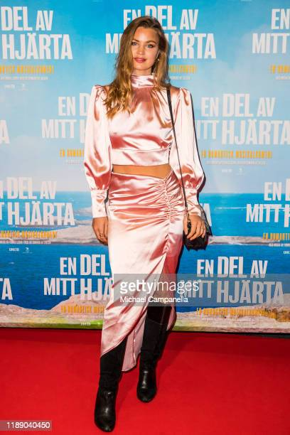 Jennifer Akerman poses for a picture on the red carpet during the premiere for A Piece Of My Heart at the Rigoletto cinema on December 16 2019 in...
