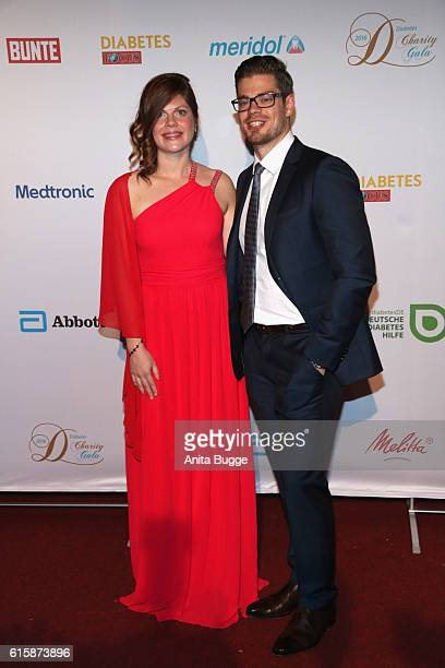 Jennifer and Julien Fuchsberger attend the 6th Diabetes Charity Gala at TIPI am Kanzleramt on October 20, 2016 in Berlin, Germany.