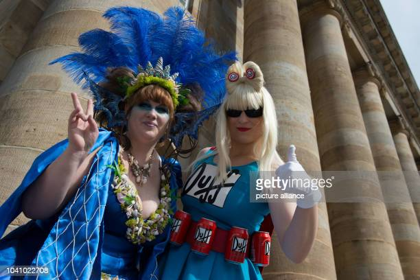 Jennifer and Stefanie pose as Sea Queen and YuChan Cosplay at the manga fair 'Connichi' in Kassel Germany 16 September 2016 Several thousands of...