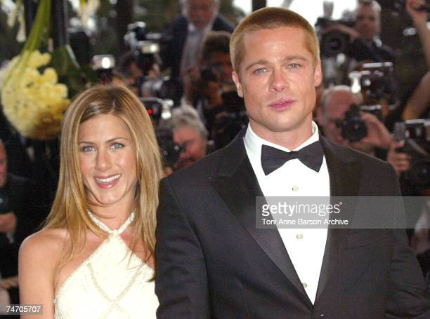 Jennifer Aniston and Brad Pitt at the Palais Du Festival in Cannes France