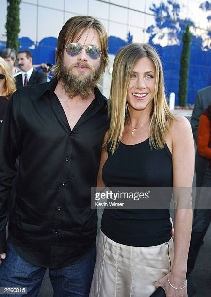 Jennifer Aniston and Brad Pitt at the premiere of 'The Good Girl' at the Pacific Design Center in West Hollywood Ca Wednesday August 7 2002 Photo by...