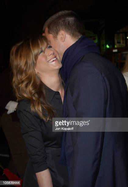 Jennifer Aniston and Brad Pitt during 'Along Came Polly' Los Angeles Premiere at Mann's Chinese Theater in Hollywood California United States