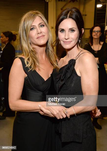 Jennifer Aniston and Courteney Cox attend the American Film Institute's 46th Life Achievement Award Gala Tribute to George Clooney at Dolby Theatre...